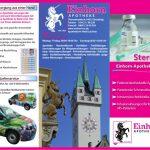 Fleyer der Einhorn Apotheke in Straubing