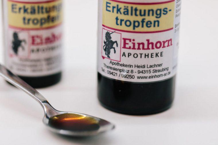 Erkältungstropfen, Einhorn Apotheke, Straubing